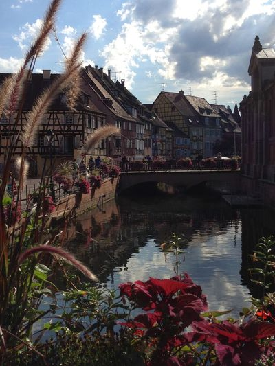 Architecture Built Structure Building Exterior Sky Water Flower Bridge - Man Made Structure Day Outdoors Covered Bridge No People Nature City Alsace Alsatian Timber Frame Old Buildings