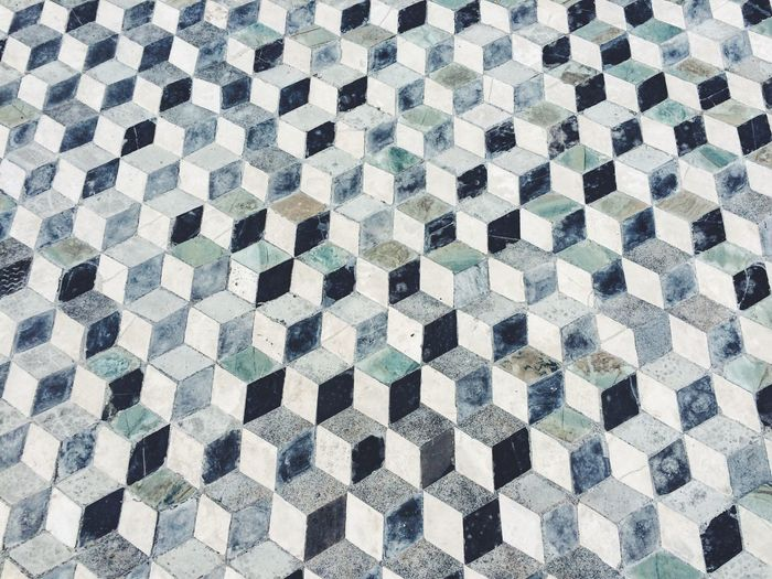 Pattern Geometric Shape Design Flooring Textured  Repetition No People Backgrounds Pompeii  Italy Geometry Geometric Shapes Cube Floor