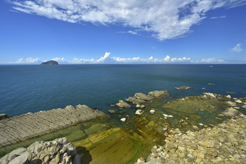 Beautiful Holiday Rock Taiwan Travel Beauty In Nature Blue Blue Sky Cloud - Sky Day Horizon Over Water Island Keelung Landscape Nature No People Outdoors Scenics Sea Sky Summer Sunlight Tranquil Scene Tranquility Water