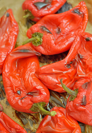 Close-up of red peppers