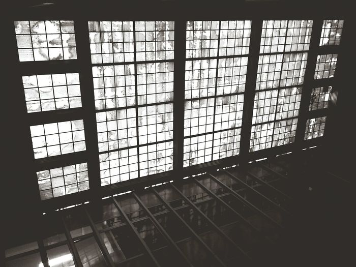 Glass window in house