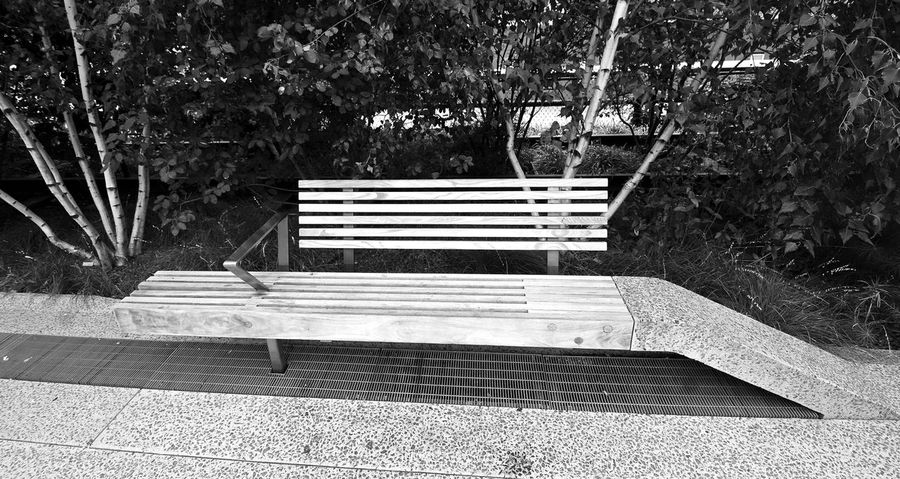 Abandoned Absence Bench Deterioration Empty Footpath High Line Manhattan High Line Park High Line Park, Nyc Lawn Narrow Park Park - Man Made Space Park Bench Shadow Sitting Steps Wood Wood - Material Wooden