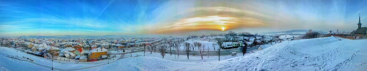 Hometown winter panoramic view EyeEm Nature Lover Eye4photography  EyeEm Best Shots Hdr_Collection Panoramic Love Sunset View Photooftheday Mobilephotography
