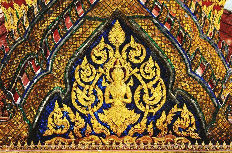 Full frame shot of multi colored temple