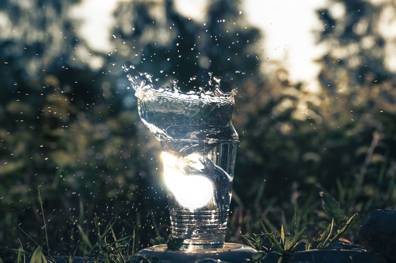 Water splashing out of a glass Close-up Day Drinking Water Drop Focus On Foreground Freshness Motion Nature No People Outdoors Refreshment Splashing Water