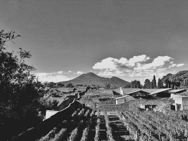Pompeii  Mountain Sky Scenics Nature Beauty In Nature Day Tranquility Cloud - Sky Tree Tranquil Scene Outdoors No People Built Structure Building Exterior Landscape Architecture Pompeiscavi Pompeii Ruins Pompéia Pompeii