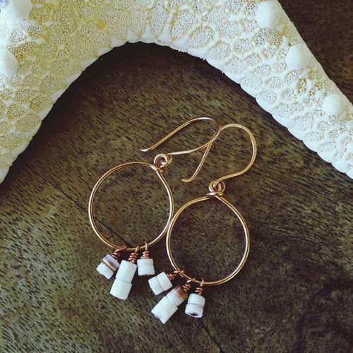Seashell Earrings Jewelry Handmade Jewellery Tropical Enjoying Life
