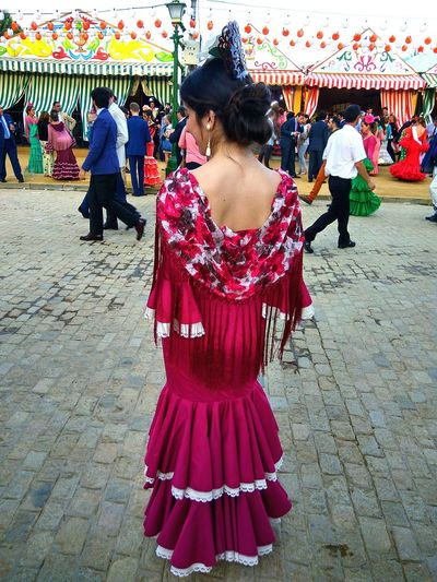 Traje De Flamenca Flamencas Seville Sevilla Women Traditional Clothing Arts Culture And Entertainment