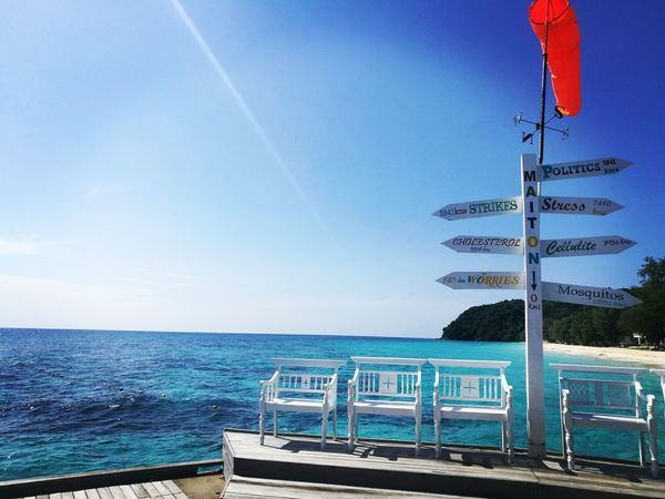 Clear Sky Blue Sea Outdoors Nature Water Horizon Over Water Thailand Phuket Thailand Beach Maiton Island Thaïlande