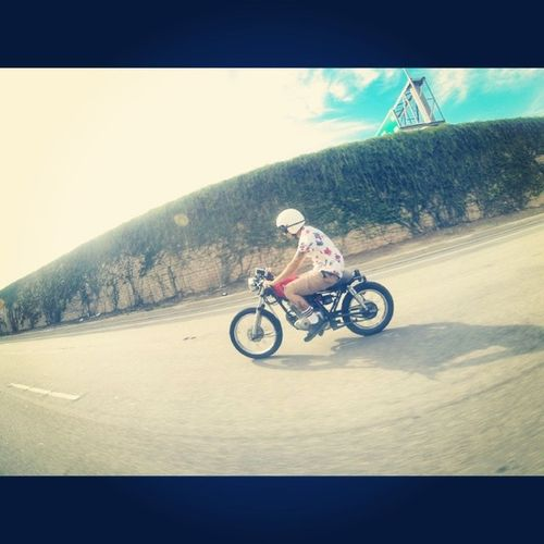 Its a good day for a cruise Suzuki Gn125 Gopro