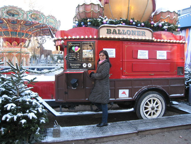 Tivoli Tivoli Denmark Tivoli Garden Winter Wintertime Architecture Day Full Length Land Vehicle Occupation One Person Outdoors People Real People Side View Standing Transportation Young Adult