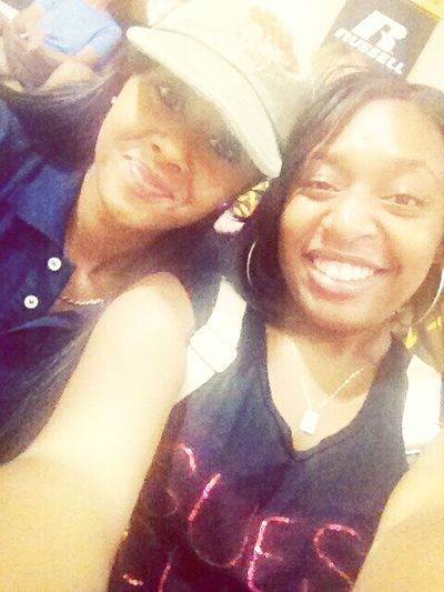 Me & Meesh At A GT Volleyball Game (;
