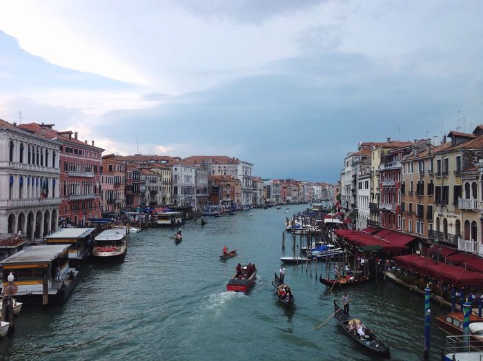 Water Transportation City Boat Built Structure Architecture Canal Mode Of Transport Sky Nautical Vessel City Life Tourism Vacations Venice, Italy First Eyeem Photo My Favorite Place