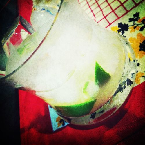 Drinking Caipirinha