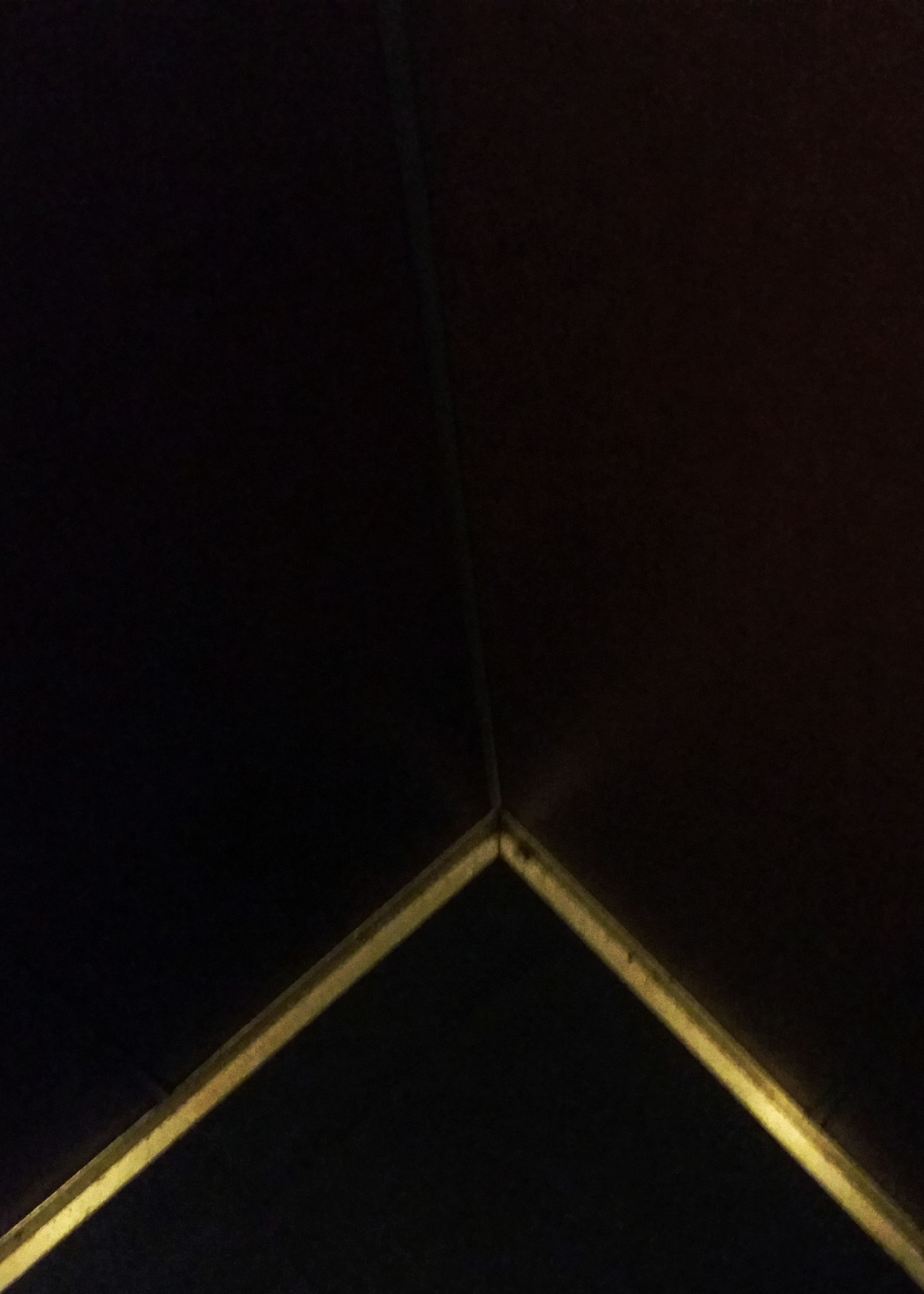 no people, copy space, night, low angle view, shape, sky, dark, architecture, nature, indoors, silhouette, studio shot, backgrounds, triangle shape, close-up, clear sky, pattern, metal, single object, directly below, dividing line