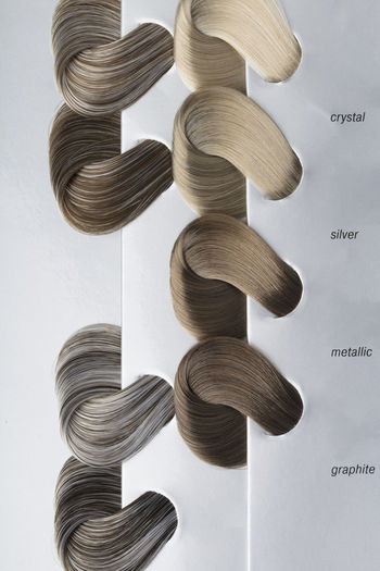 Close-up various hair sample