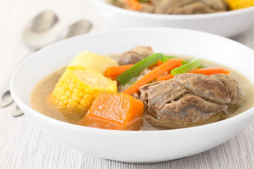 Traditional Chilean Cazuela de Vacuno or Cazuela de Carne, a beef soup with potato, corn, pumpkin, carrot, bell pepper, onion and rice, photographed with natural light (Selective Focus, Focus on the front of the meat and the pumpkin) Beef Chile Chilean  Dish Homemade Homemade Food Latin America Meal Potato South American Food Appetizer Beef Soup Bowl Cazuela Cazuela De Carne Cazuela De Vacuno Chilean Food Corn Food Meat Pepper Pumpkin Soup Traditional Vegetable