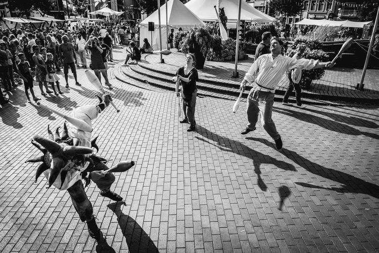 Real People High Angle View Men Large Group Of People Shadow Women Lifestyles Outdoors Day People Streetphotography Street Photography Street Streetphoto_bw