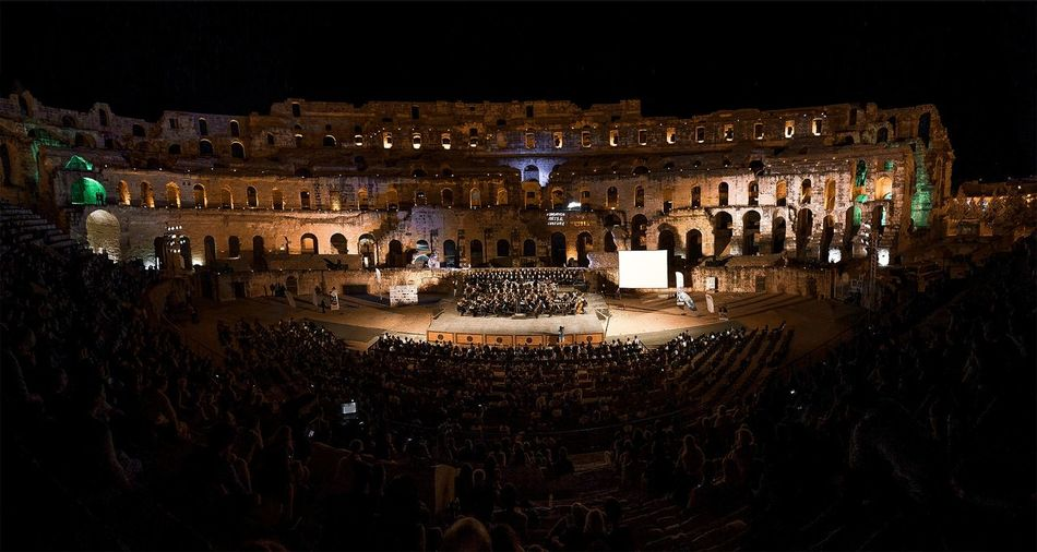 El Jem Coliseum El Jem Symphony Orchestra Tunisia Event Arts Culture And Entertainment Coliseum Coliseo