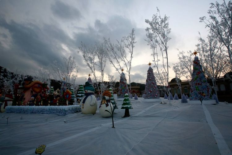 Everland Seoul, Korea Clouds And Sky Traveling Photography Landscape_photography Sunset_collection Christmas Tree Christmas Decorations Christmas Ornaments
