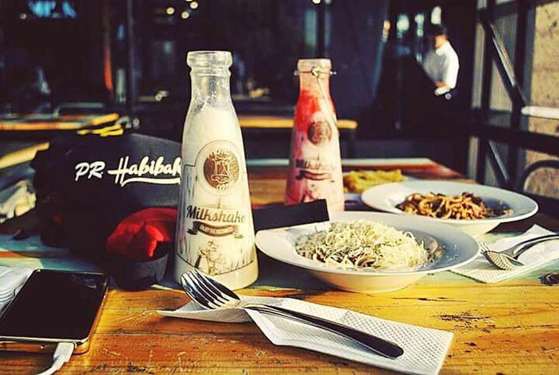 Food And Drink Milkshake♥ Spagetti Time Milkcafe Indonesia_photography Indonesiafood