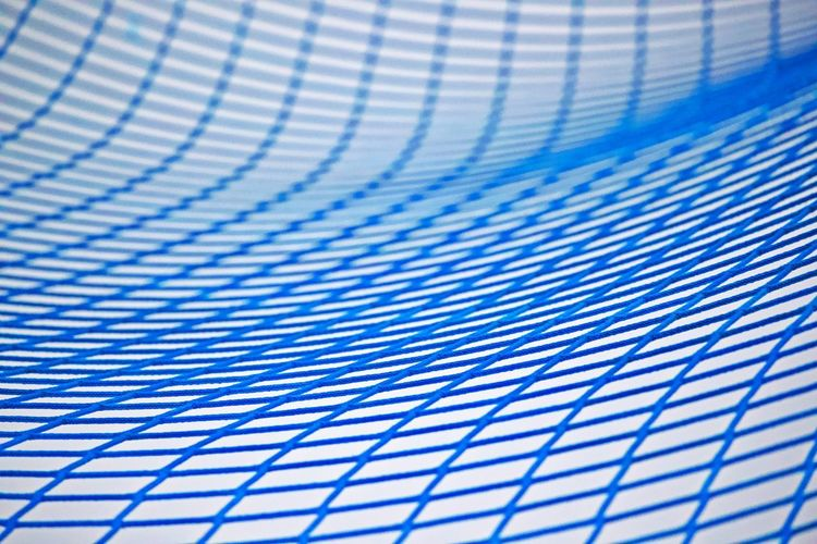 Blue No People Close-up Pattern Grid Curve Full Frame Abstract Net Network Geometric Shape