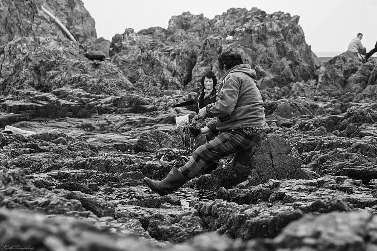 collecting moss Sea Being A Beach Bum Blackandwhite Black & White The KIOMI Collection People And Places