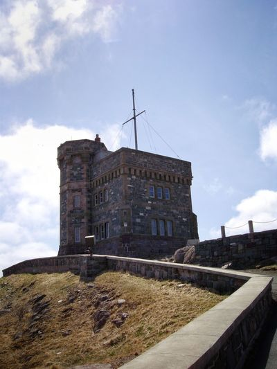 Cabot Tower, St. John's, NL. Architecture Stone Masonry Cabot Tower St. John's, NL Marconi Transmission Tower Signal Hill