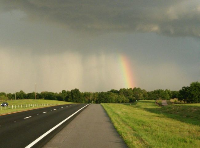 Only In Florida Check This Out Nature Photography Skies Above Rainbow Sunshower Weather