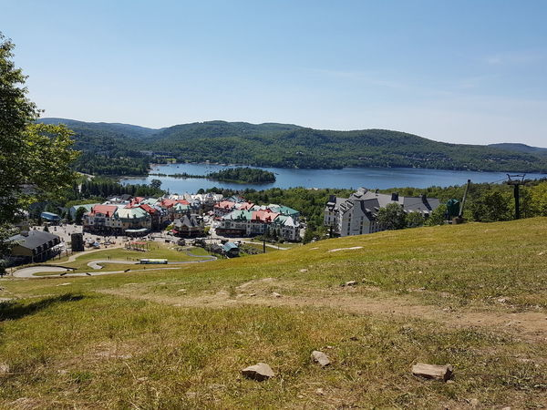 Outdoors No People Day Sky High Angle View Village Village View Canada Mont Tremblant, Qc Nature Mountain Beauty In Nature