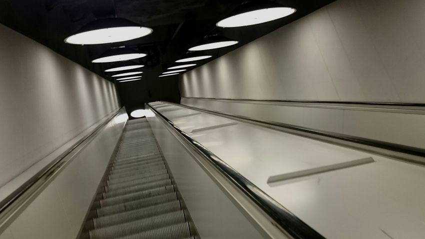 The Escalator taking me down into the underground Diagonal Arlanda Arlanda Airport