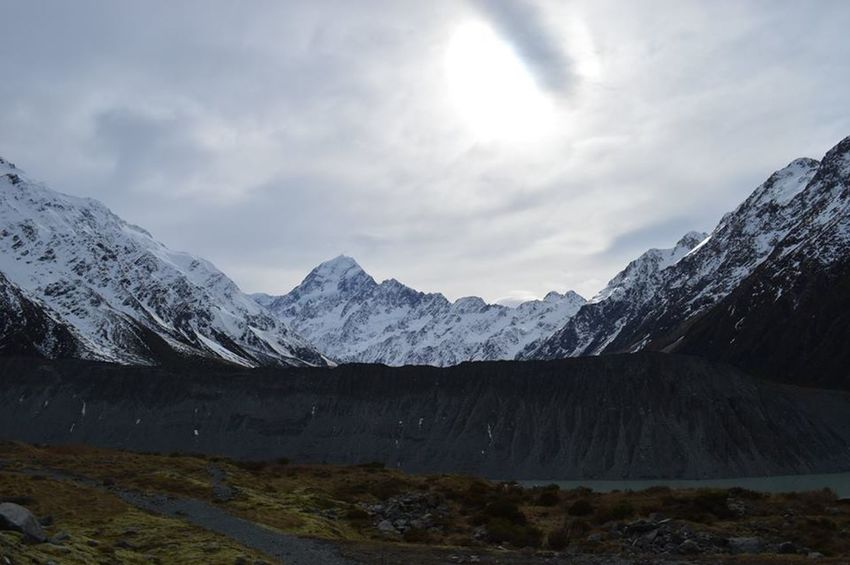 Aoraki Lost In The Landscape Contrast Mount Cook Mountain New Zealand Snowscape Snowsun