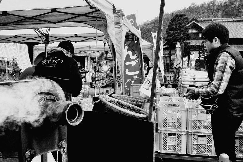 Chestnuts Stall Autumn Nikko Earlynov EyeEm Japan Japan Travelphotography Eyeemphotography Bnw Bnwphotography Bnwcollection Bnw_captures Bnw_streetphotography Bnw_japan Bnw_world Streetphotography