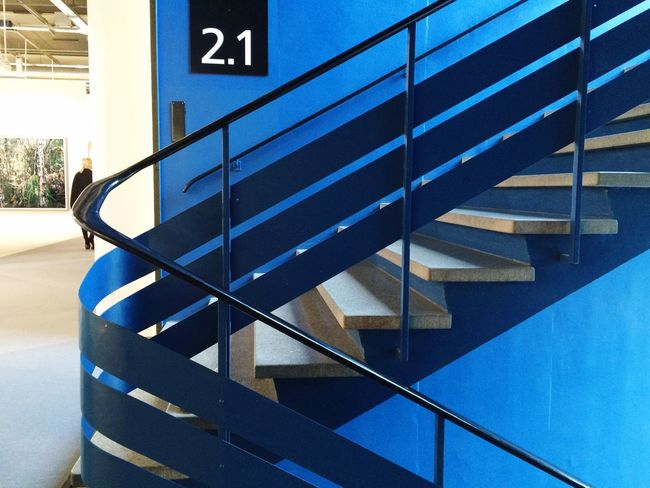 Basel Architecture Messe Stairs Blue Staircase Art Basel Artbasel2015