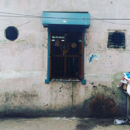 Damaged Façade Window House Culture Mylapore India