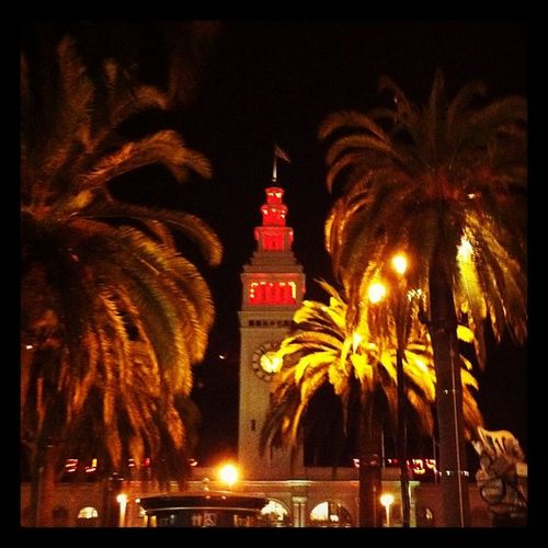 Ferry Building at Christmas time San Francisco ❄holidays. Holidays Christmas Lights