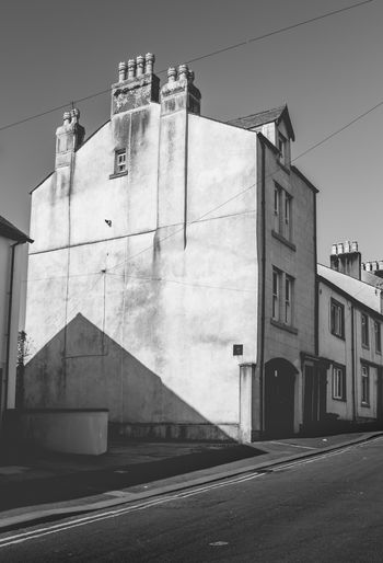Cumbria England UK Home Architecture Blackandwhite Building Building Exterior City Day House Low Angle View monochrome photography No People Outdoors Road Sky Street