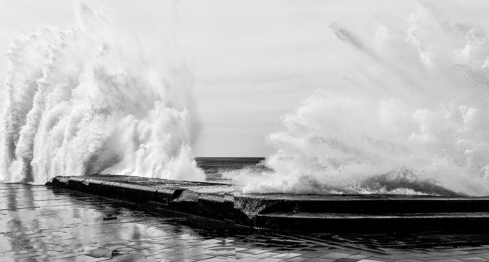 Bajamar Beauty In Nature Crash Day Force Lighthouse Motion Nature No People Outdoors Power In Nature Scenics Sea Sky Splashing Tenerife Water Waterfront Wave Wawe The Street Photographer - 2017 EyeEm Awards