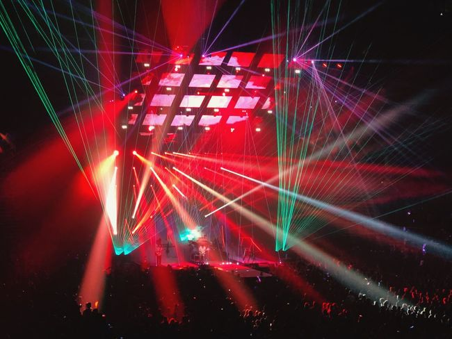 Concert Photography Concert Lights Illuminated Nightlife Laser Performance Red Music Light Beam Celebration Indoors  Real People Crowd Light Show Fun