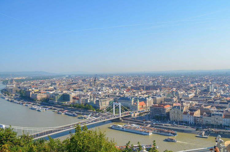 Budapest City Danube Hungary Morning Panorama View Your Ticket To Europe Bridge Capital
