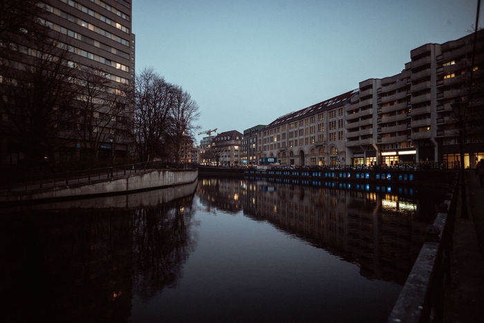 Spreekanal Berlin Mitte Berlin Photography Night Lights River View Riverside Architecture Berliner Ansichten Bridge - Man Made Structure Building Exterior Built Structure City Cityscape Clear Sky Day Illuminated Nature Night No People Outdoors Reflection River Sky Travel Destinations Tree Water
