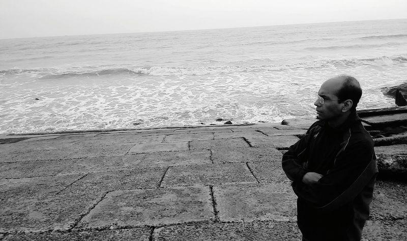 Sea Seascape Seabeach Black And White