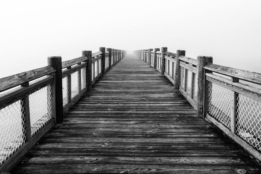Pier Architecture Beach Bridge Built Structure Clear Sky Connection Day Diminishing Perspective Direction Empty Fog Footbridge Long Nature No People Outdoors Railing Sky Sunrise The Way Forward Tranquil Scene Tranquility Wood Wood - Material