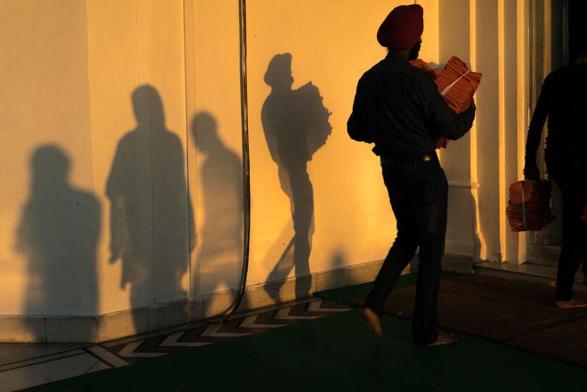 ANANDPURSAHIB Anandpur Sahib Everyday Lives India Punjab Shadow And Light Shadowplay Travel Travel Photography Full Length Men Real People Shadow Silhouette Street Photography