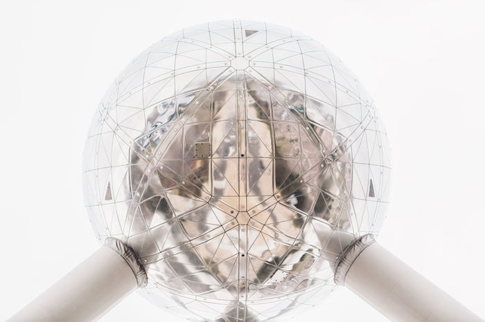 Architecture Belgium Brussels Exterior Modern Atomium Building Exterior Close-up Day Mettalic Outdoors People Symbol White Background
