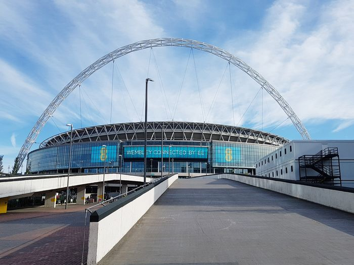 Arts Culture And Entertainment Outdoors Day Architecture No People Wembley Wembley Stadium London Uk England Iconic Urban Cloud - Sky Blue Sky EyeEm LOST IN London