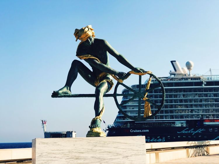 Im Hafen von Monaco Sailor Mein Schiff Cruise Ship Kreuzfahrtschiff Full Length Clear Sky Sky Outdoors Day Real People Built Structure Lifestyles Blue People Architecture One Person Water Building Exterior EyeEmNewHere
