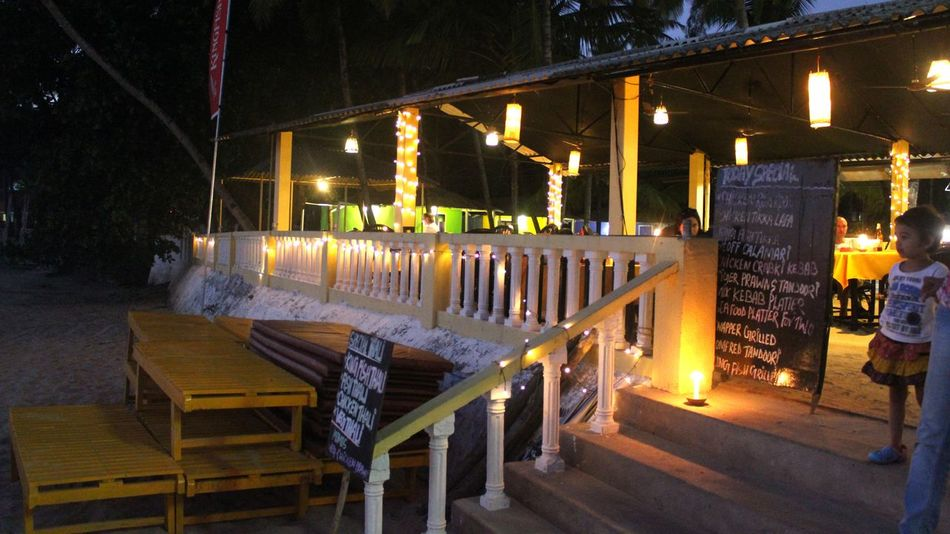 Night Illuminated Outdoors Celebration Beach Beach Bar Beach Resort View Palolem Beach Goa