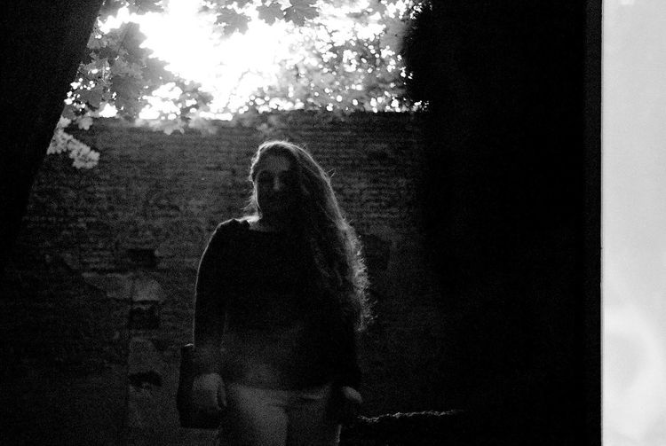 -Grace- Abandoned Ruins Backlight Portrait Olympus OM-1 Olympus OM-1 Analogue Photography 50mm Long Hair Real People One Person Lifestyles Silhouette Women Nature Leisure Activity Unrecognizable Person
