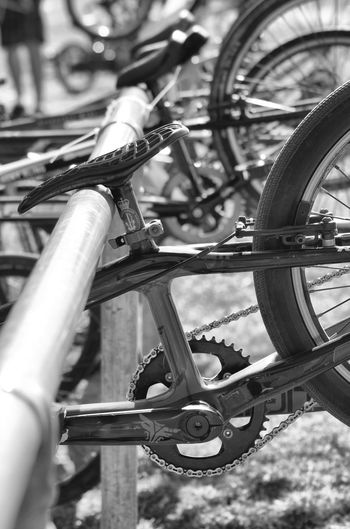 Bicycle Close-up Focus On Foreground Gear Land Vehicle Metal Mode Of Transportation No People Outdoors Selective Focus Spoke Tire Transportation Wheel